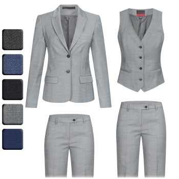 MODERN Damen Anzug Set REGULAR FIT 4-teilig